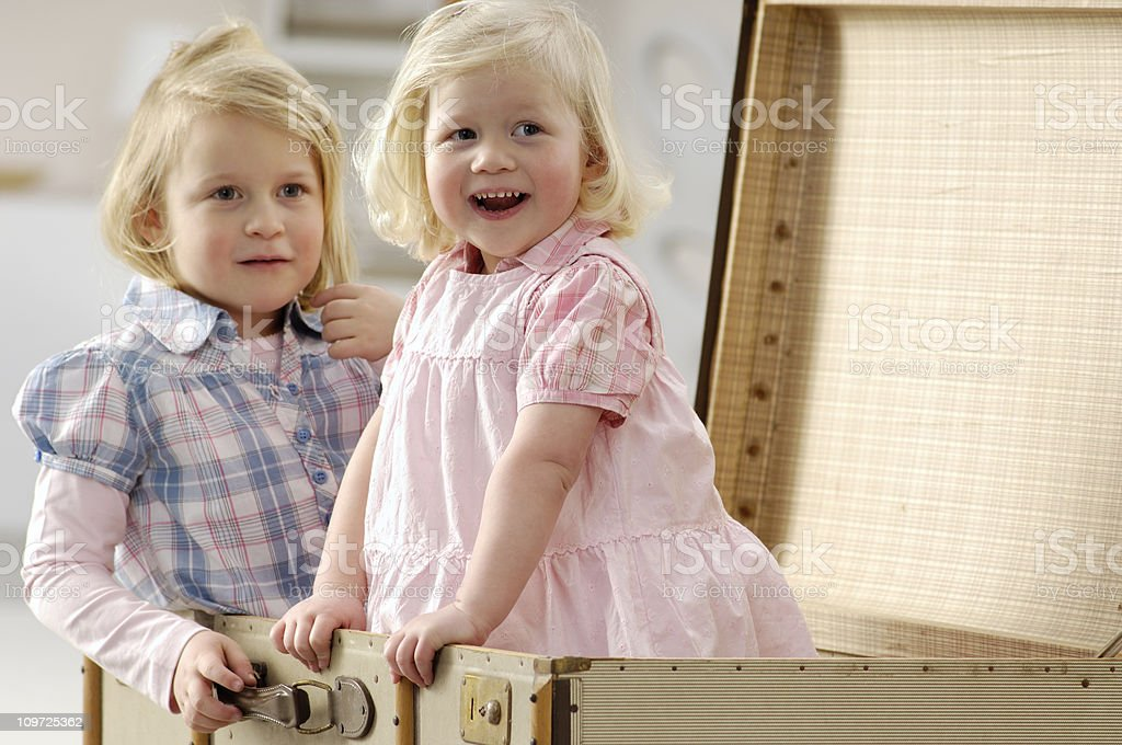 Little girls royalty-free stock photo