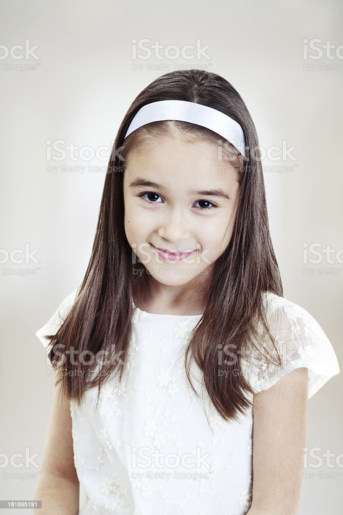 Little girl's portrait royalty-free stock photo