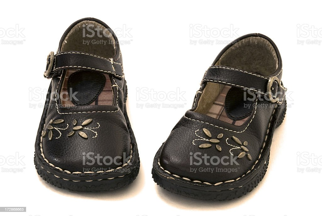 little girls shoes 4 royalty-free stock photo