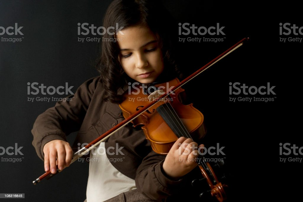 little girls violinist royalty-free stock photo