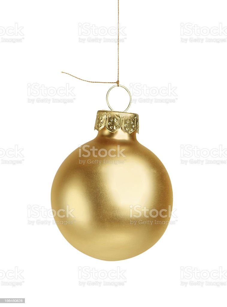 Little golden christmas ball isolated royalty-free stock photo
