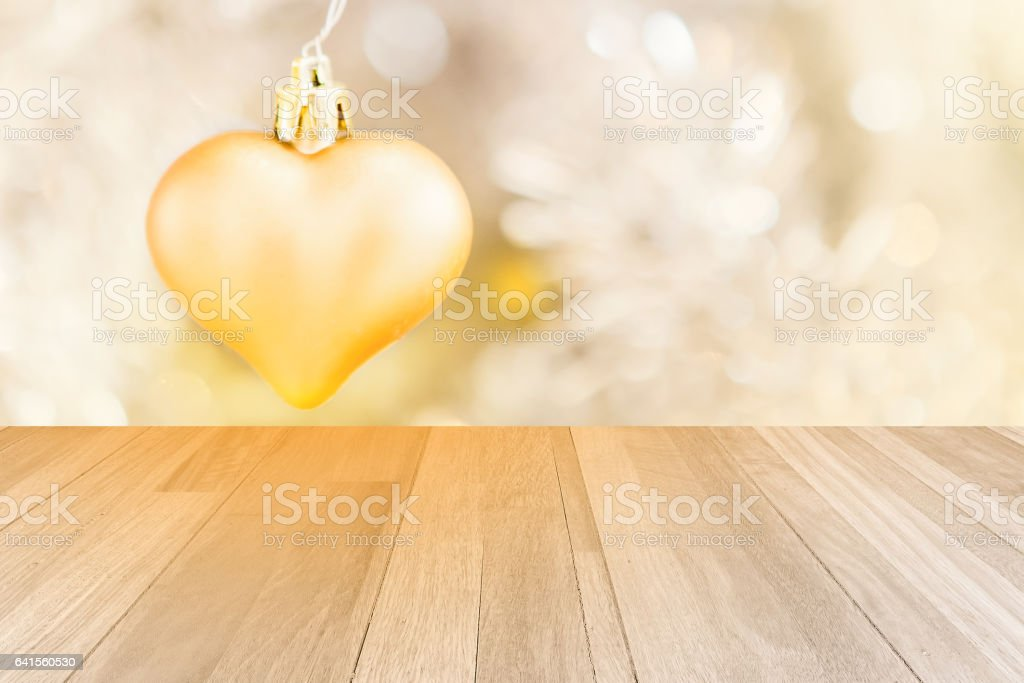 little golden heart decorated and ivory panel texture stock photo