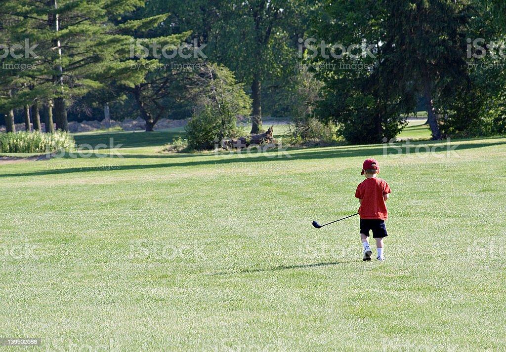 Little Golfer royalty-free stock photo