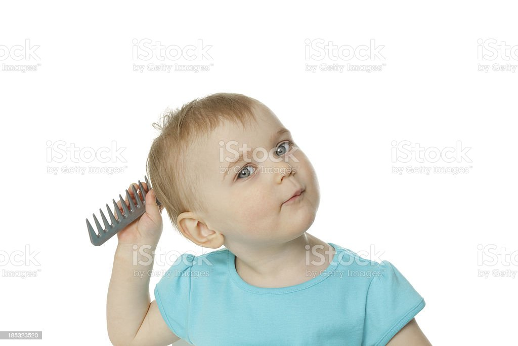 little hairdresser royalty-free stock photo