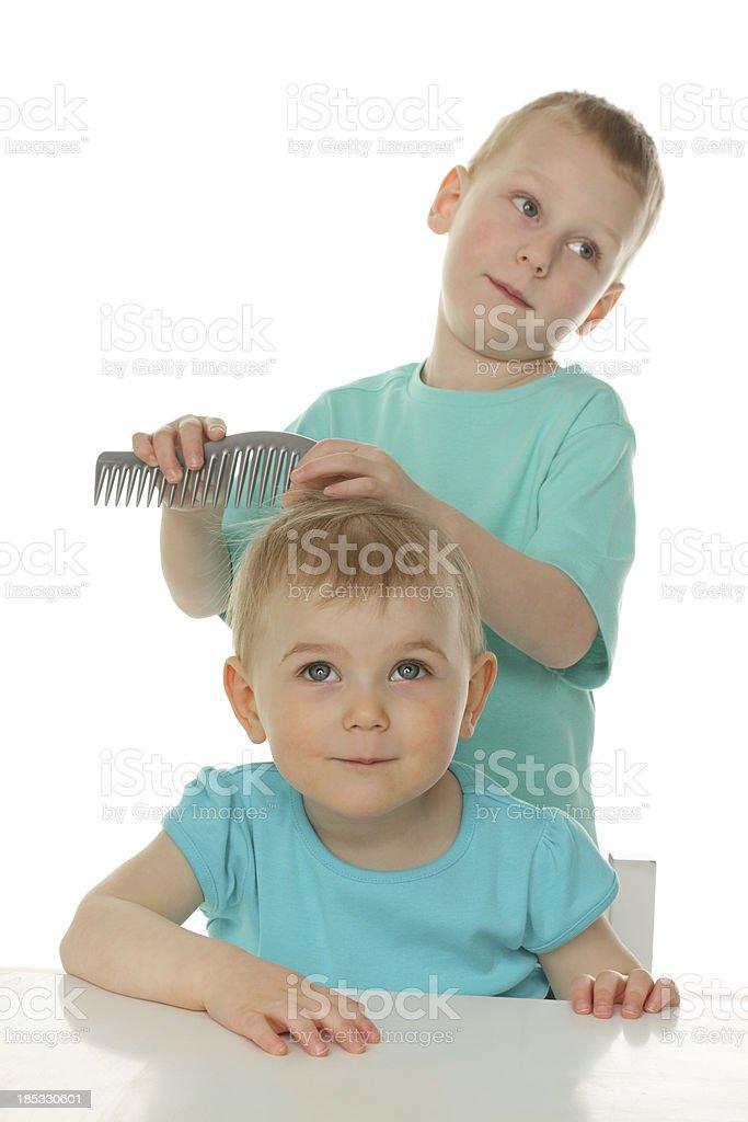 little hairdresser royalty-free stock photo