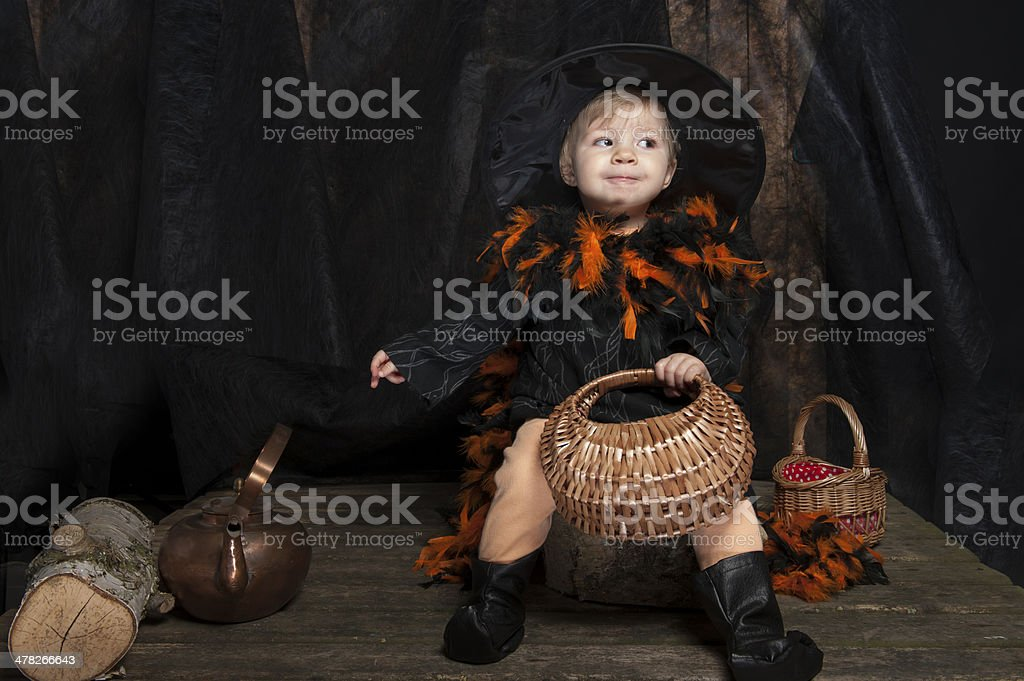 little halloween witch royalty-free stock photo