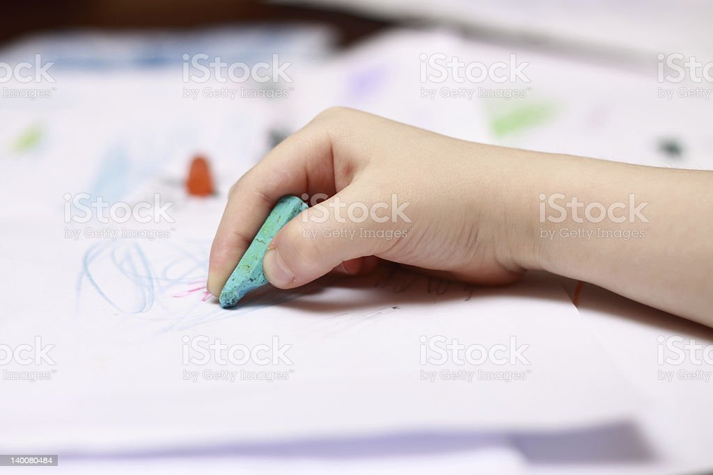 little hand drawing stock photo