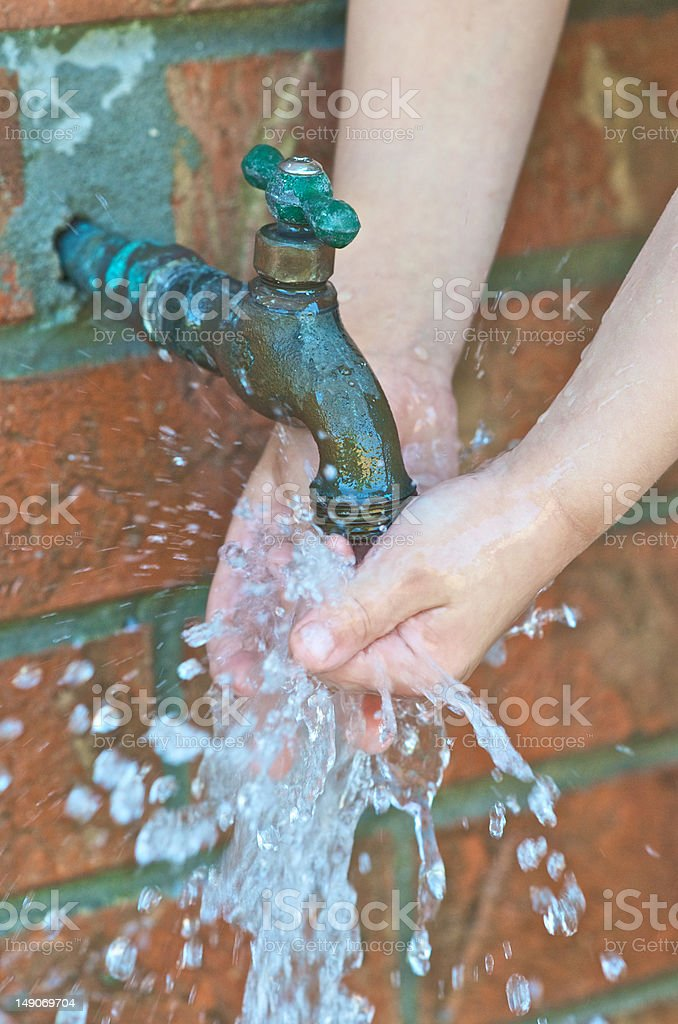 Little Hands Washing royalty-free stock photo