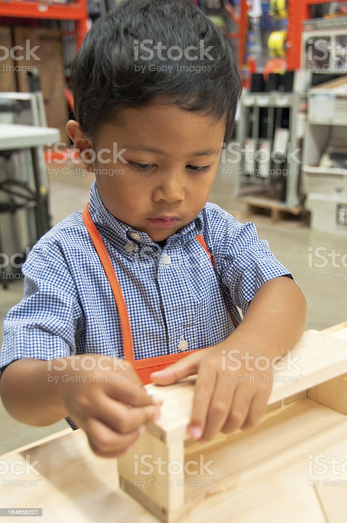 DIY Little Handsome Boy royalty-free stock photo