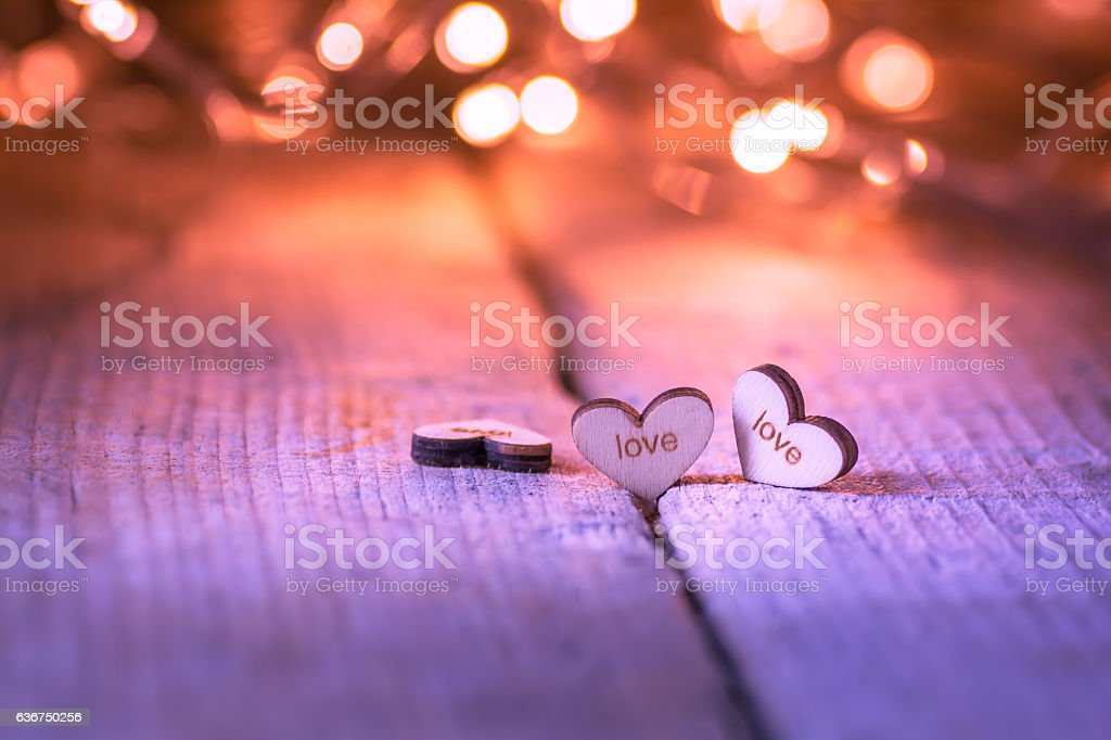 Little Hearts with WORD Love on it, Valentines Background stock photo