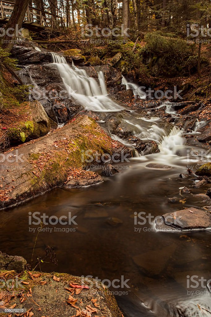 Little High Falls in Fall stock photo