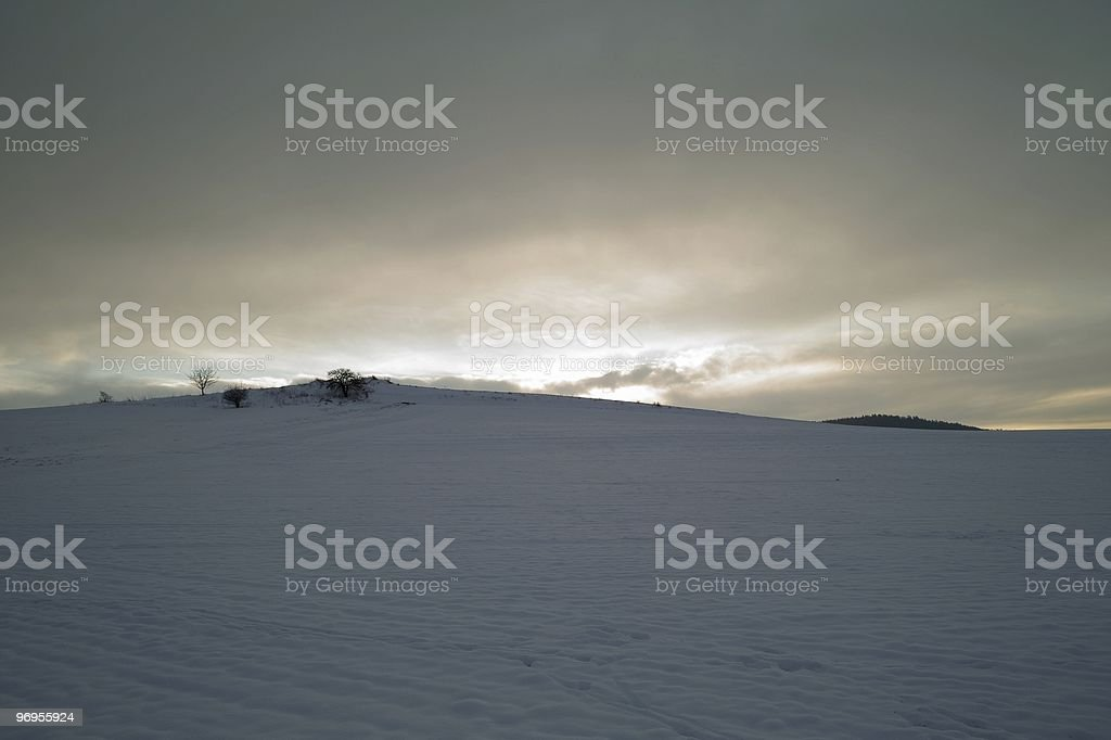 Little hill in the counter-light royalty-free stock photo