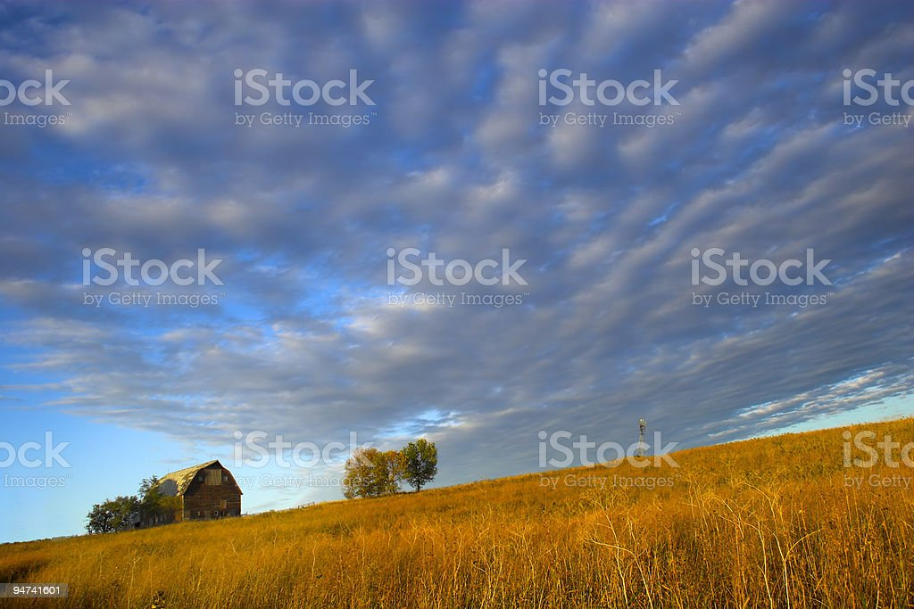 Little Hillside Farm stock photo