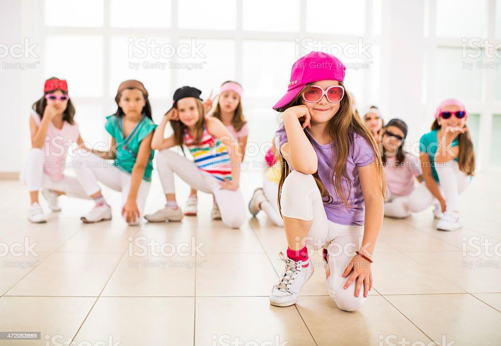 Little hip hop dancers. stock photo