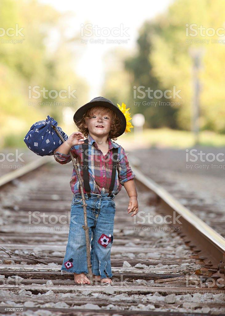 Little Hobo stock photo