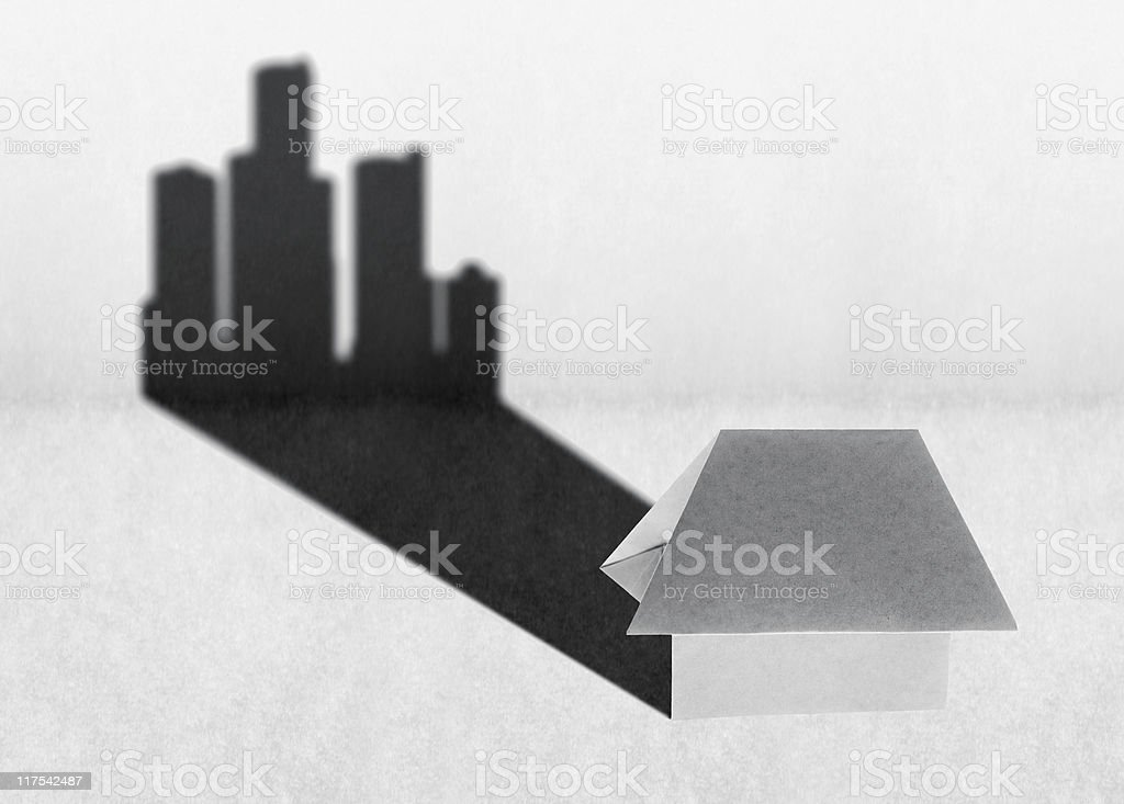 Little homes grow up royalty-free stock photo