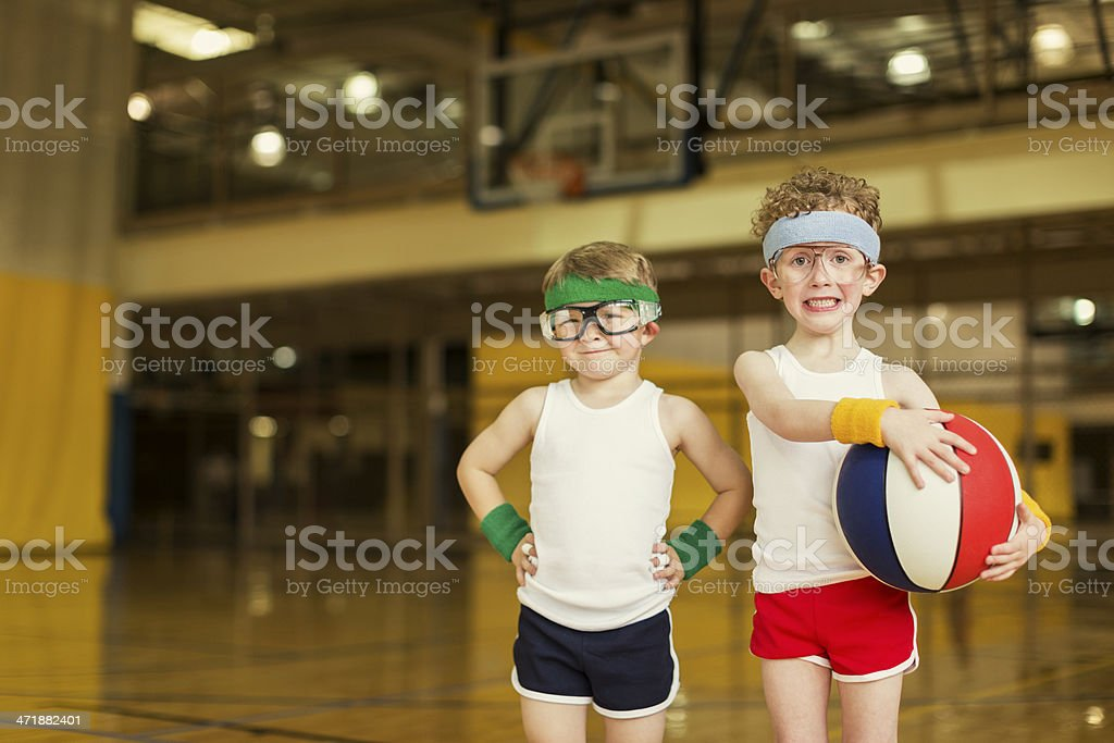 Little Hoopsters royalty-free stock photo
