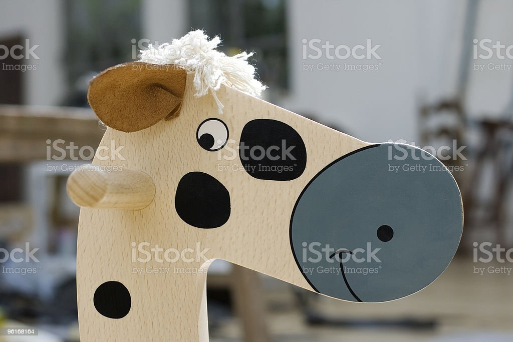 Little horse of wooden royalty-free stock photo