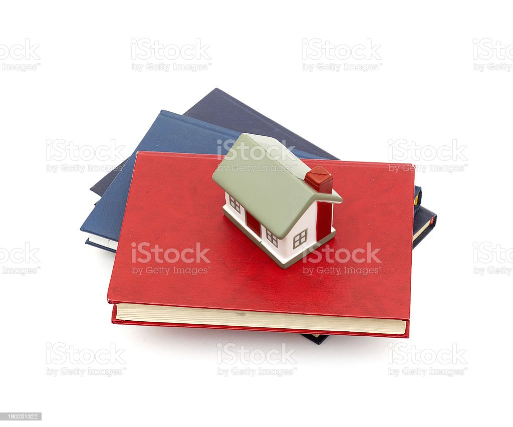 little house and books royalty-free stock photo