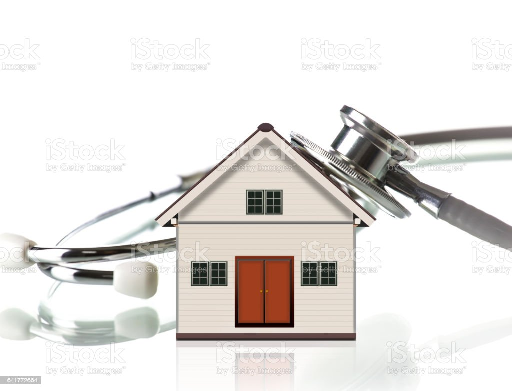 Little House and Stethoscope stock photo