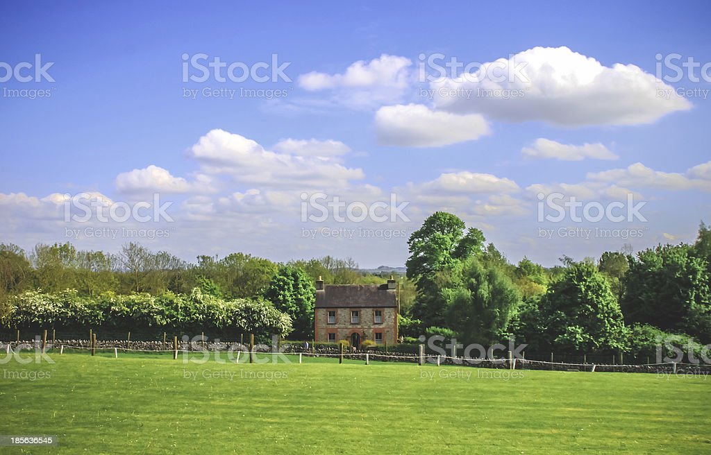 Little House, Irish cottage. stock photo