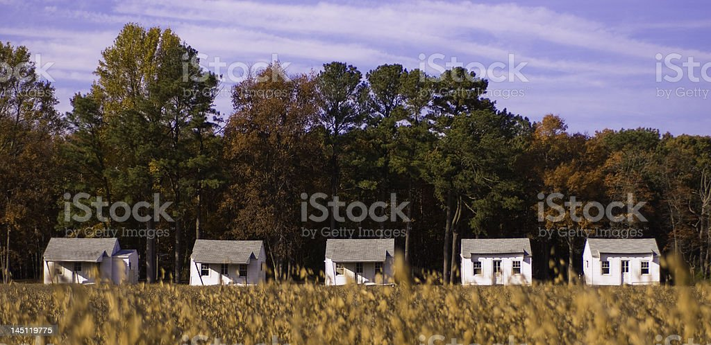 Little houses on the prairie royalty-free stock photo