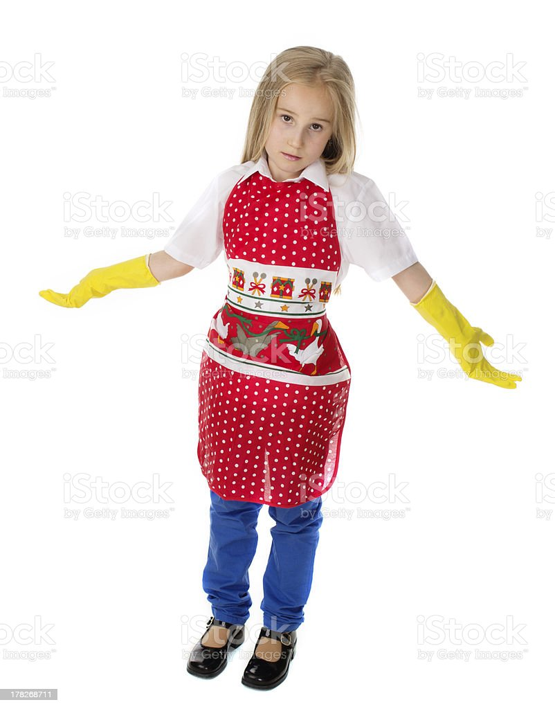 little housewife royalty-free stock photo