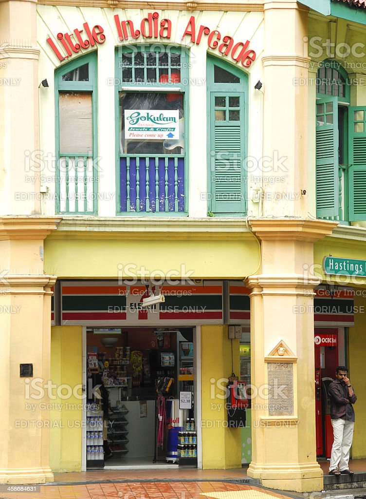 Little India Arcade, Singapore stock photo
