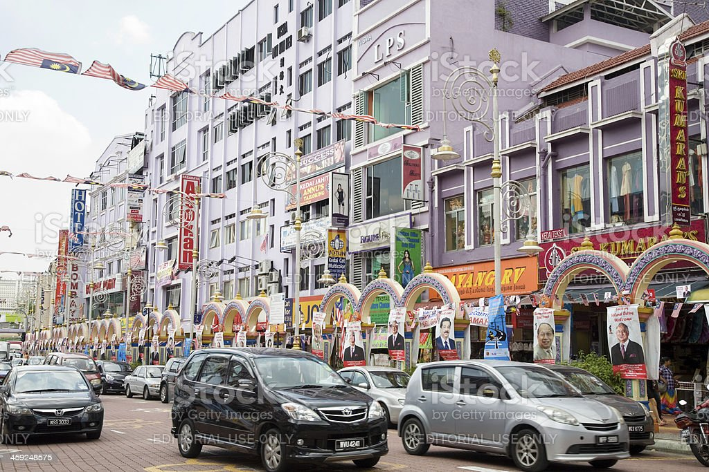 Little India district in Kuala Lumpur stock photo