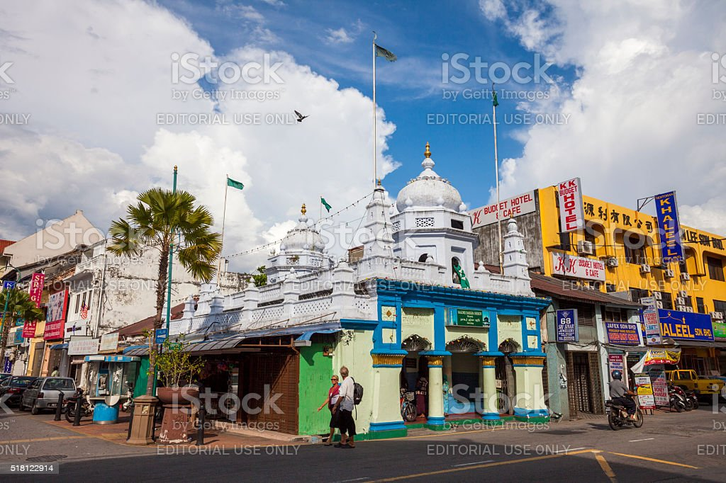Little India in George Town, Malaysia stock photo