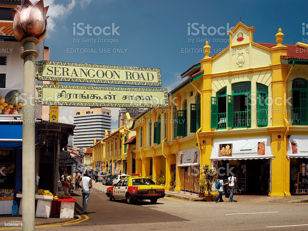 Little India - Singapore stock photo