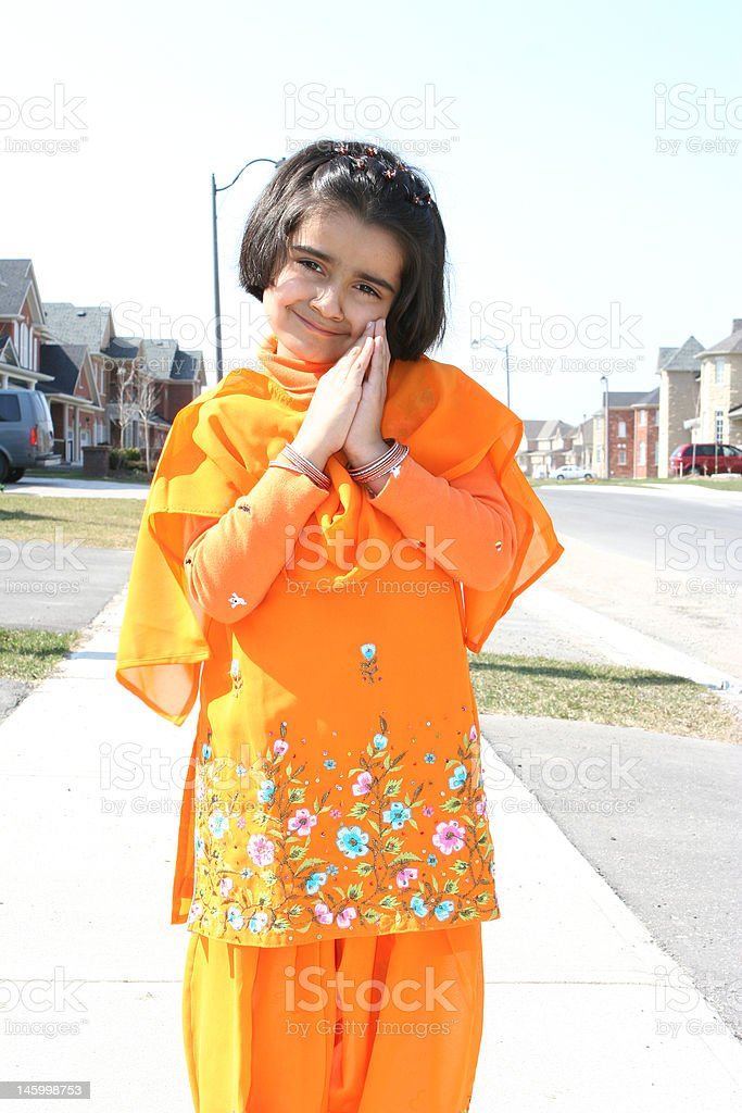 little indian girl royalty-free stock photo