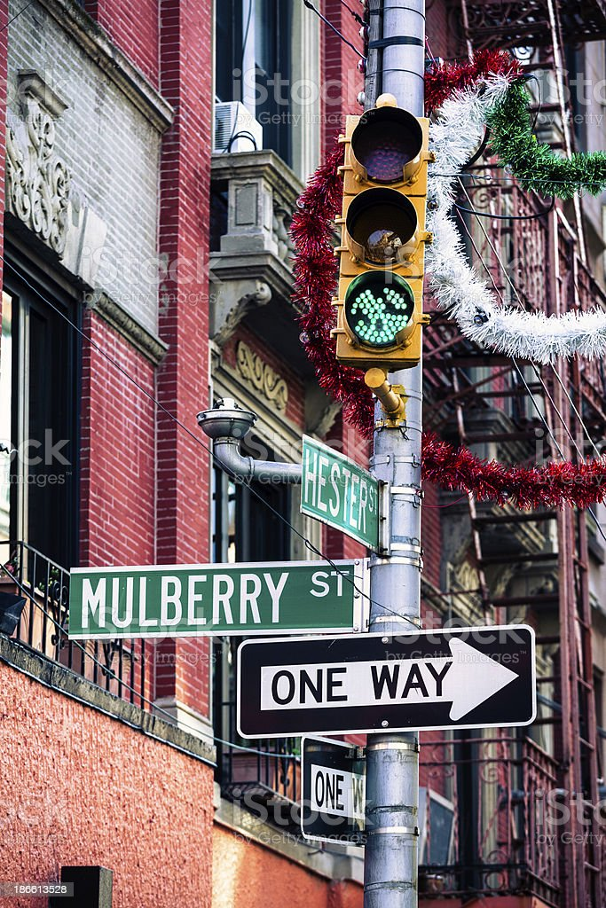 Little Italy in Manhattan, New York City royalty-free stock photo