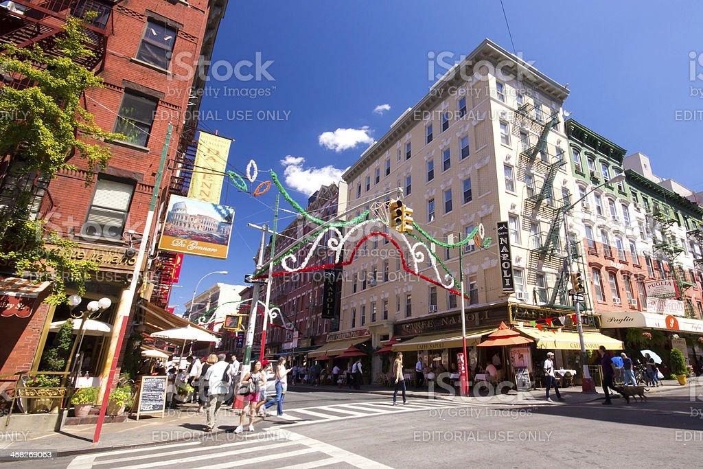 Little Italy New York City royalty-free stock photo