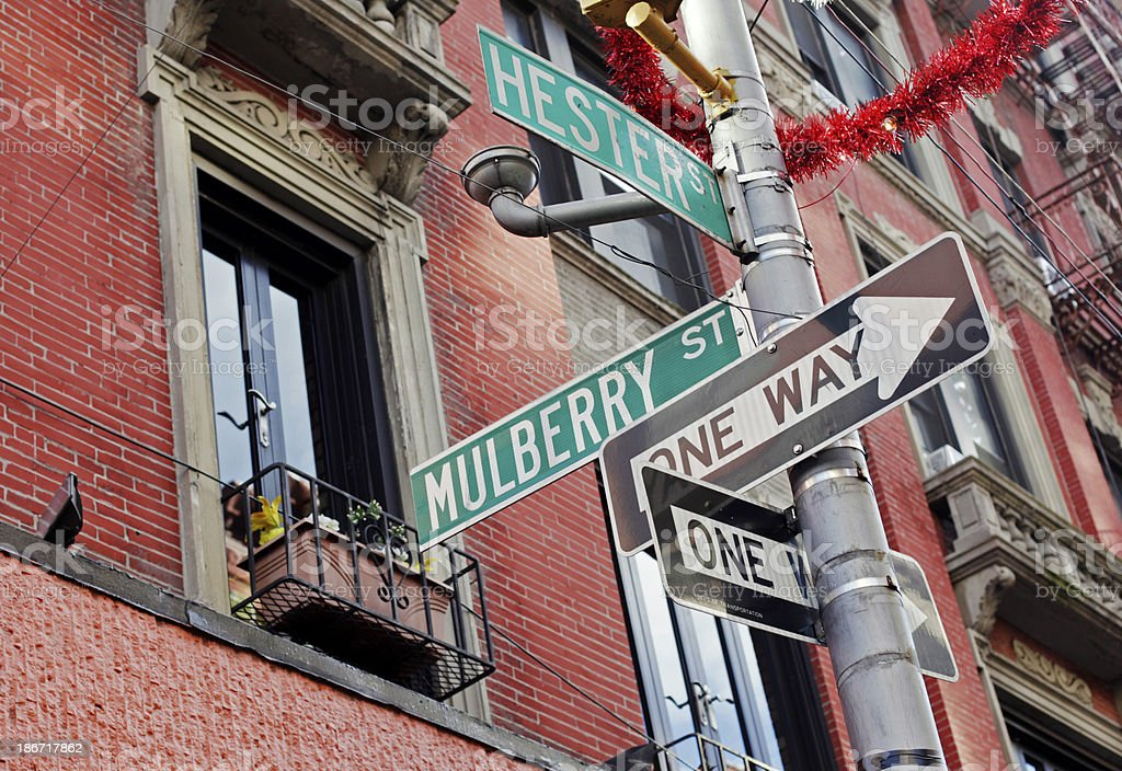 Little Italy Street Sign, New York City royalty-free stock photo