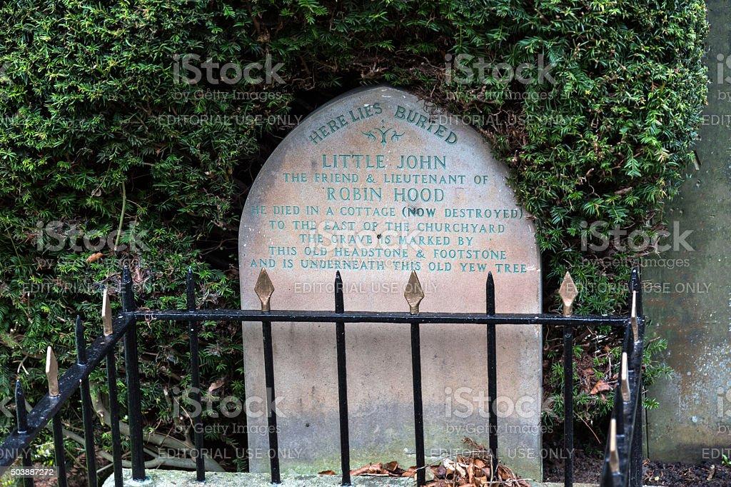 Little Johns grave, Hathersage, Derbyshire, UK stock photo