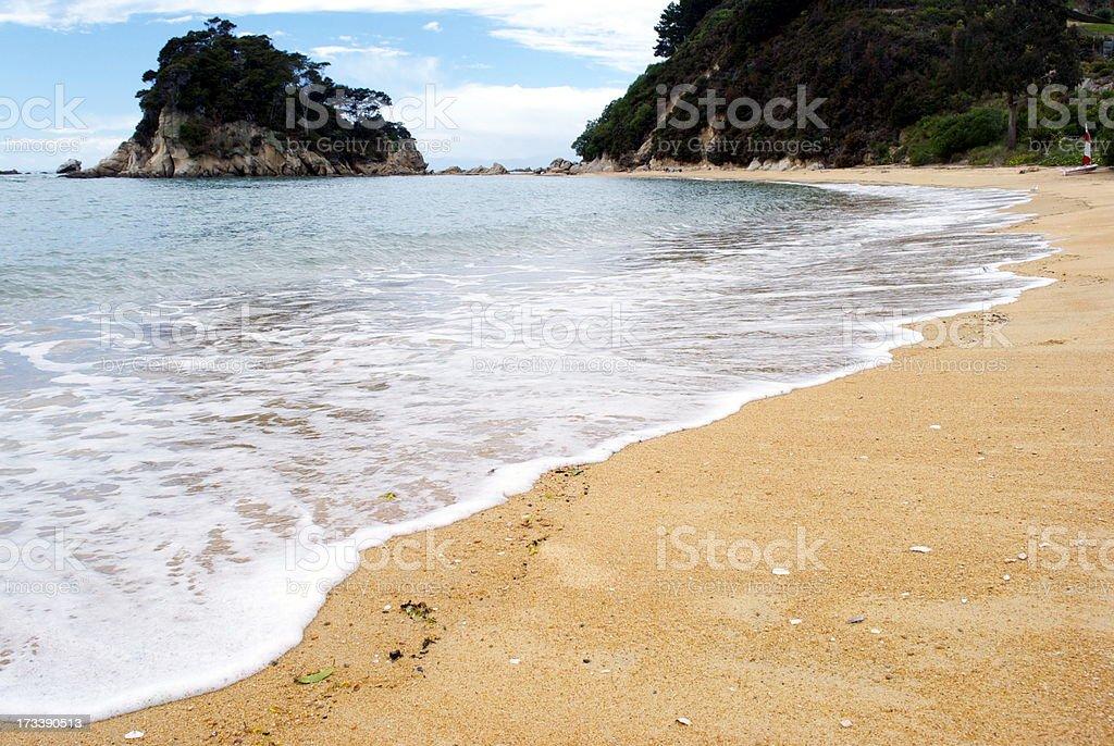 Little Kaiteriteri Beach, The Abel Tasman, New Zealand royalty-free stock photo