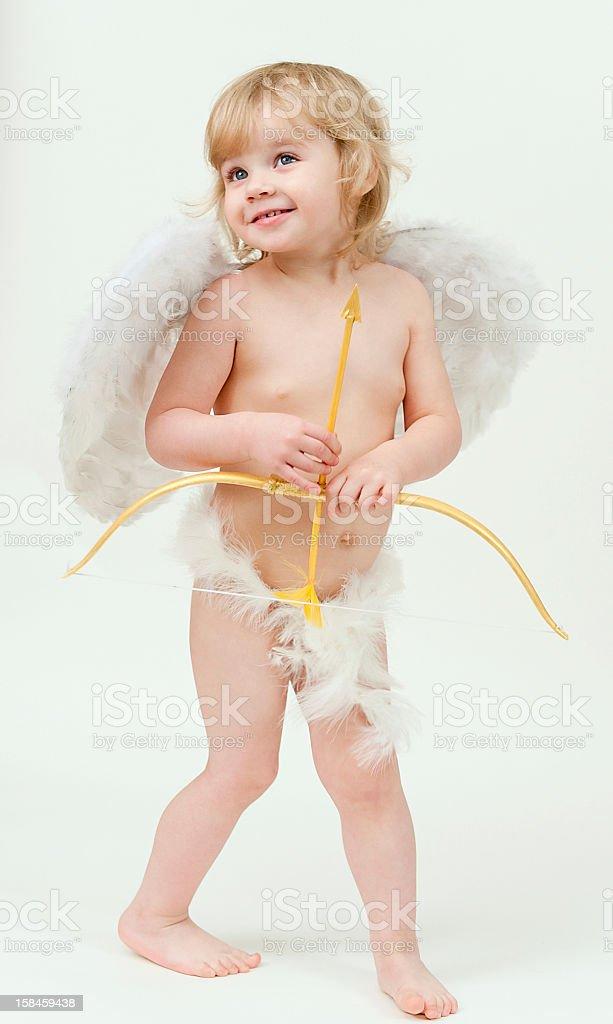Kleines Kind mit Flügel Lizenzfreies stock-foto