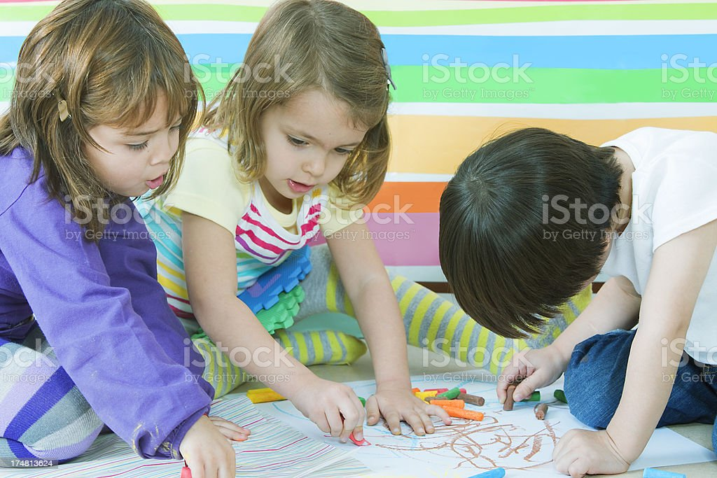 Little Kids Playing royalty-free stock photo