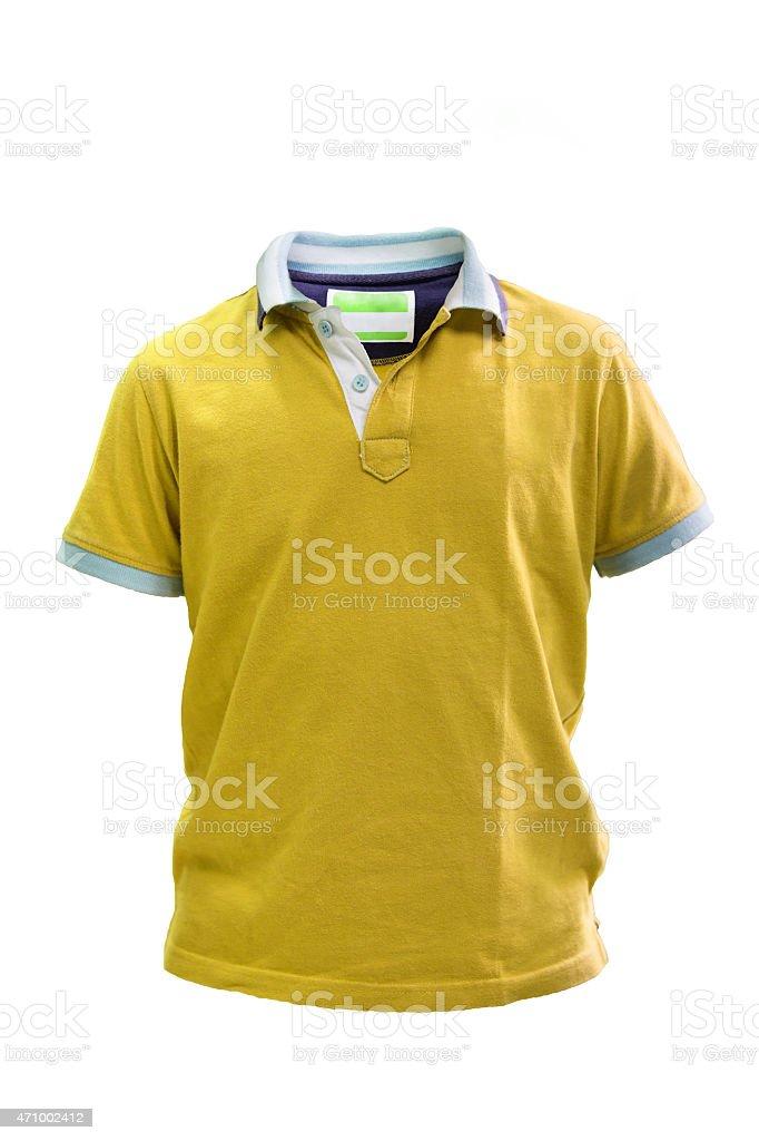 Little kids polo t shirt stock photo