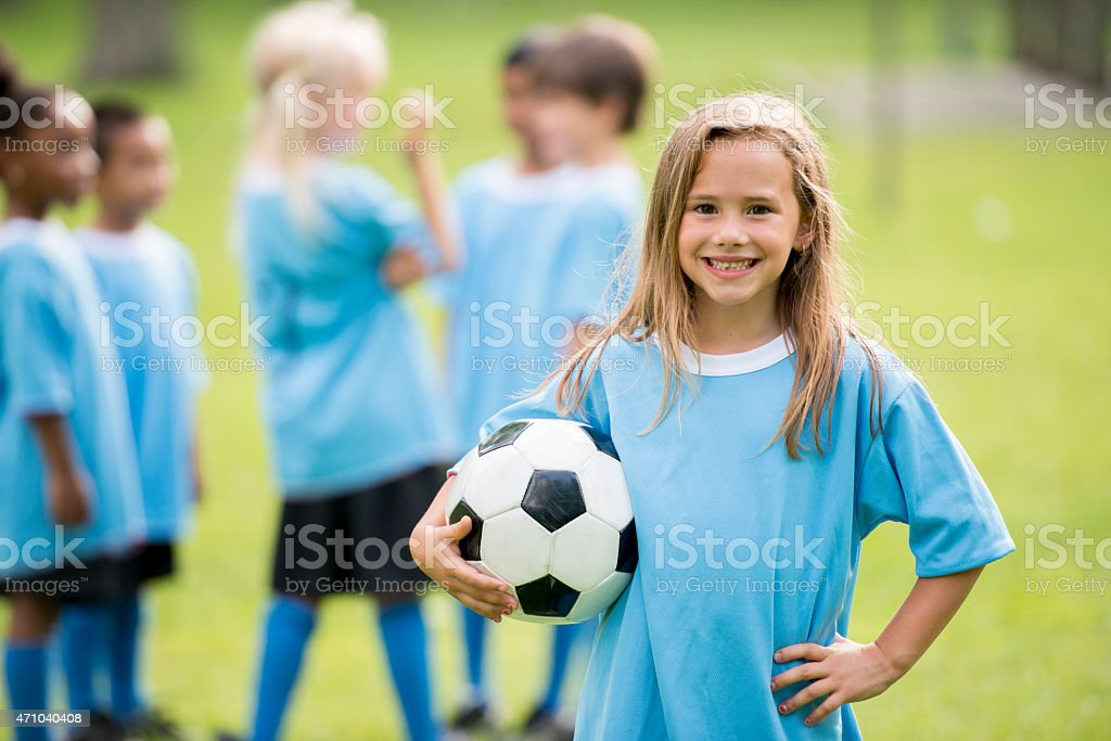 Little Kids Soccer stock photo