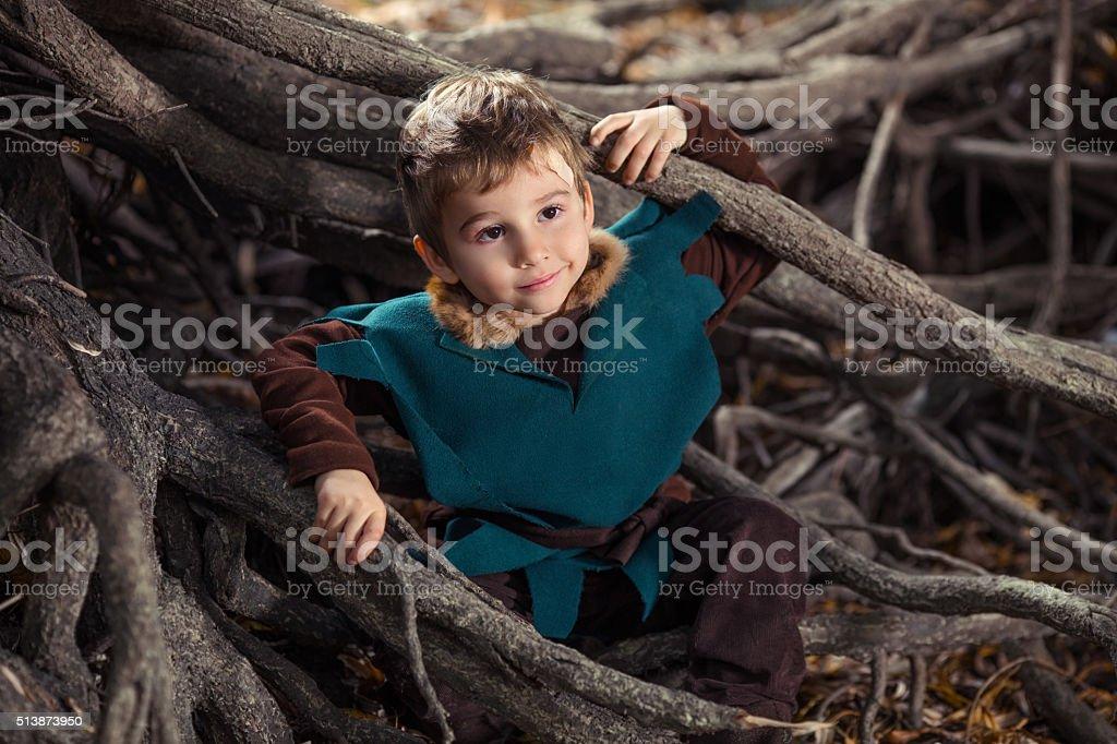 Little Knight stock photo