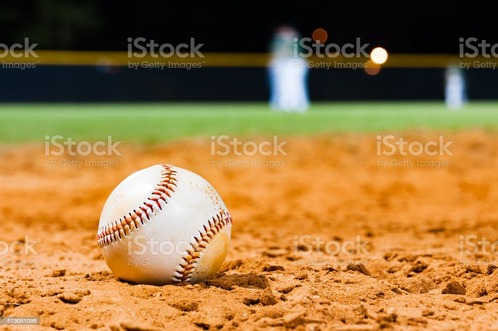 Little League Baseball Close Up with Team stock photo