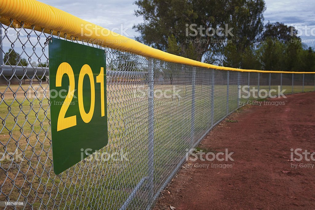Little League Baseball Fence stock photo
