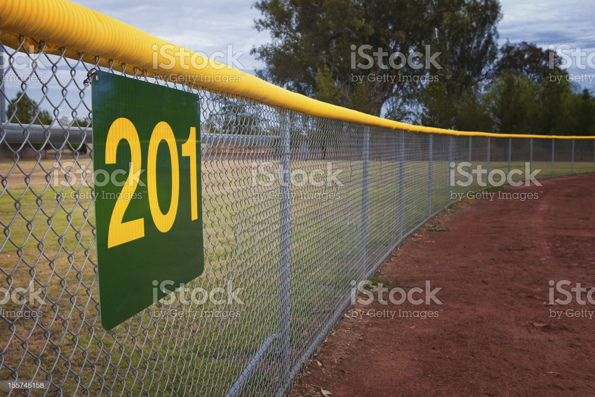 Little League Baseball Fence royalty-free stock photo