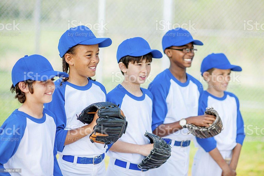 Little League Baseball royalty-free stock photo