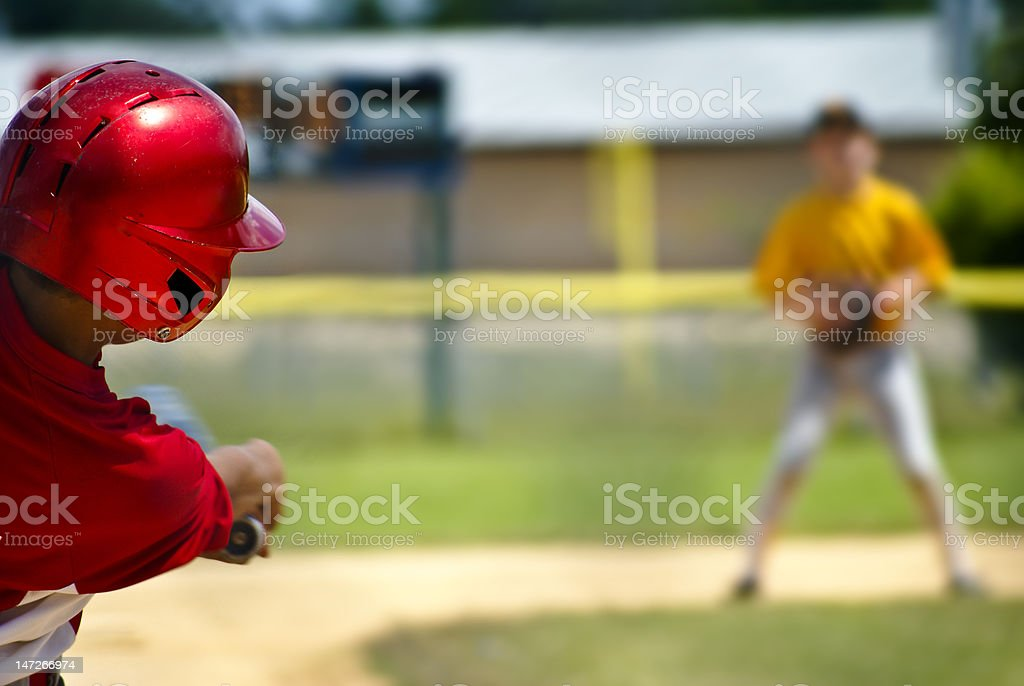 Little League Batter royalty-free stock photo