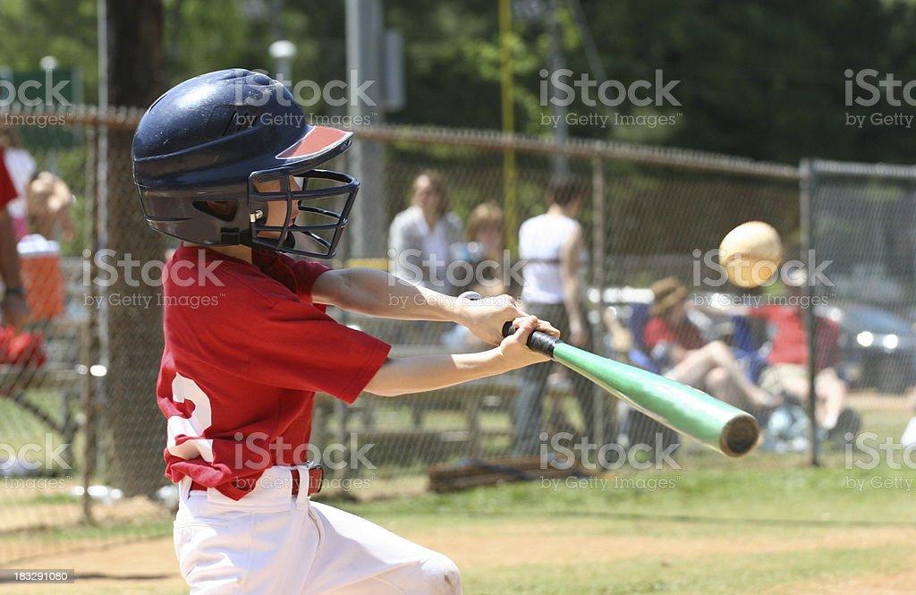 Little League Batter stock photo