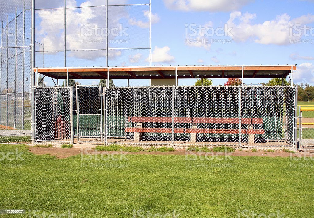 Little League Dugout stock photo