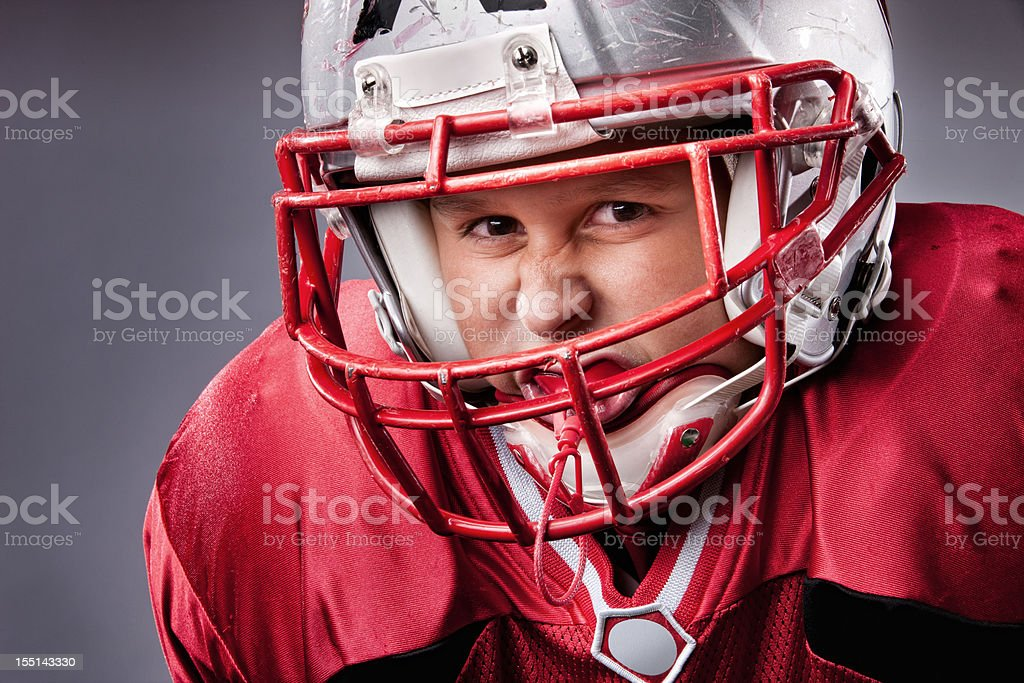 Little League Football Player stock photo